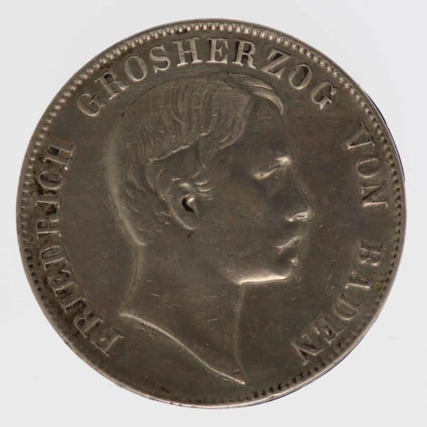 altdeutschland-deutsche-silbermuenzen - Baden Friedrich Vereinstaler 1864