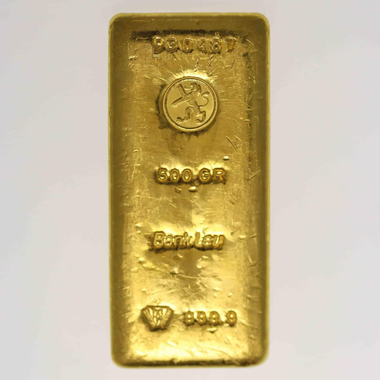 goldbarren - Goldbarren 500 GrammBank Leu