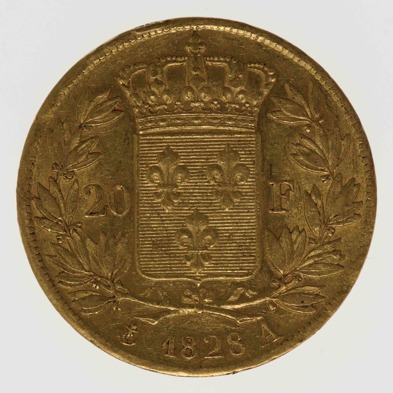 frankreich - Frankreich Charles X. 20 Francs 1828 A