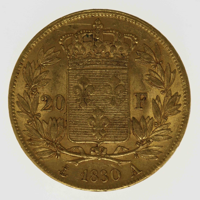 frankreich - Frankreich Charles X. 20 Francs 1830 A