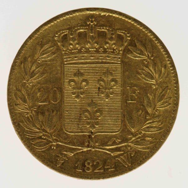 frankreich - Frankreich Louis XVIII. 20 Francs 1824 W
