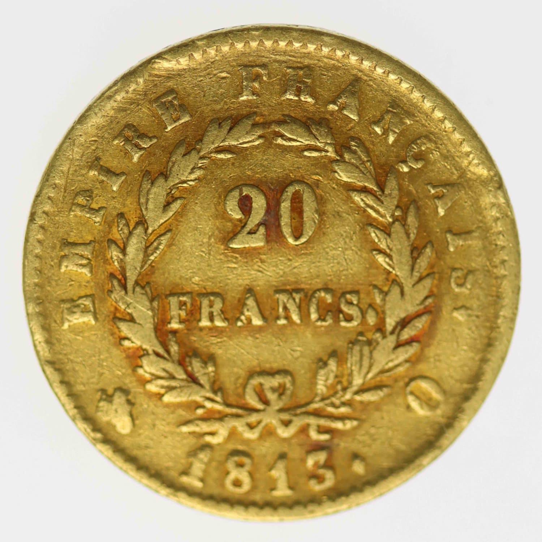 frankreich - Frankreich Napoleon I. 20 Francs 1813 Q