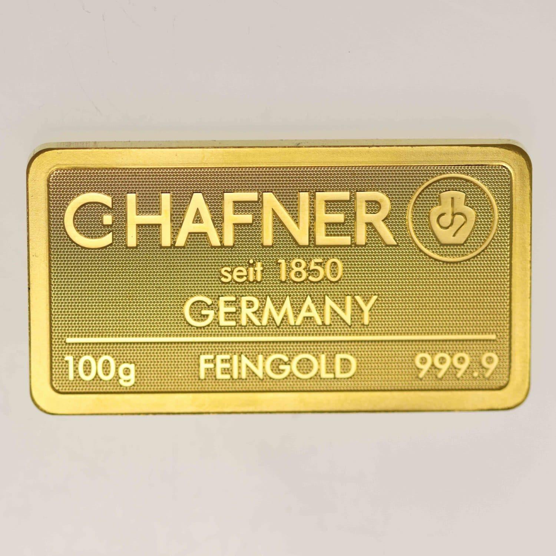 goldbarren - Goldbarren 100 GrammC. Hafner