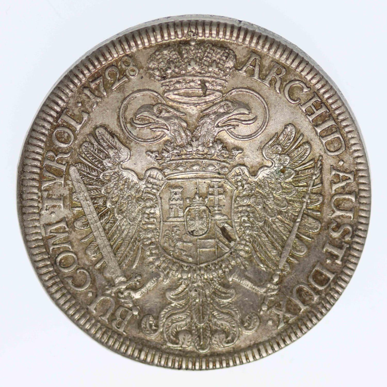 oesterreich-silbermuenzen-uebriges-europa - Habsburg Römisch Deutsches Reich Karl VI. Reichstaler 1728