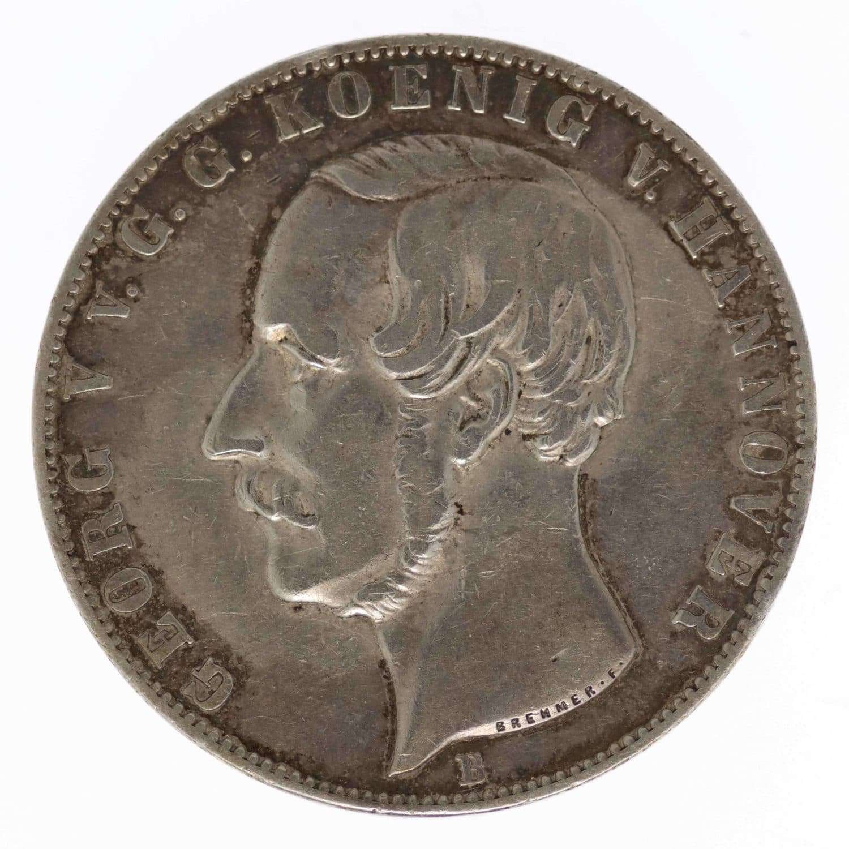 altdeutschland-deutsche-silbermuenzen - Hannover Georg V. Doppeltaler 1854