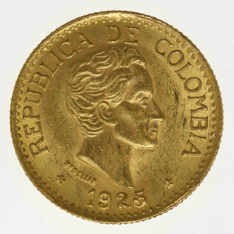 kolumbien - Kolumbien 5 Pesos 1925