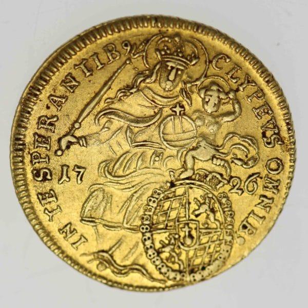 altdeutschland - Bayern Maximilian II. Emanuel Max d'or 1726