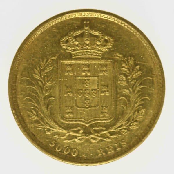 portugal - Portugal Ludwig I. 5000 Reis 1862