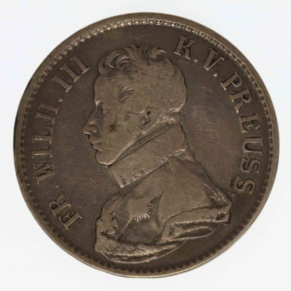 altdeutschland-deutsche-silbermuenzen - Preussen Friedrich Wilhelm III. Taler 1816 A