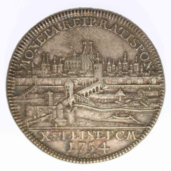 altdeutschland-deutsche-silbermuenzen - Regensburg Stadt Taler 1754