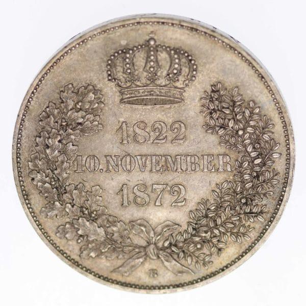altdeutschland-deutsche-silbermuenzen - Sachsen Johann Doppeltaler 1872