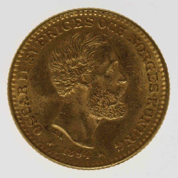schweden - Schweden Oskar II. 10 Kronen 1894