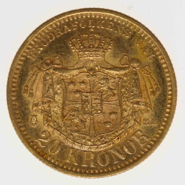 schweden - Schweden Oskar II. 20 Kronen 1899