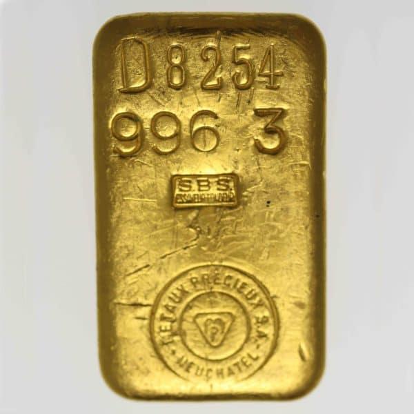 goldbarren - Goldbarren 1000 GrammSchweiz Metaux Precieux S.A. Neuchatel