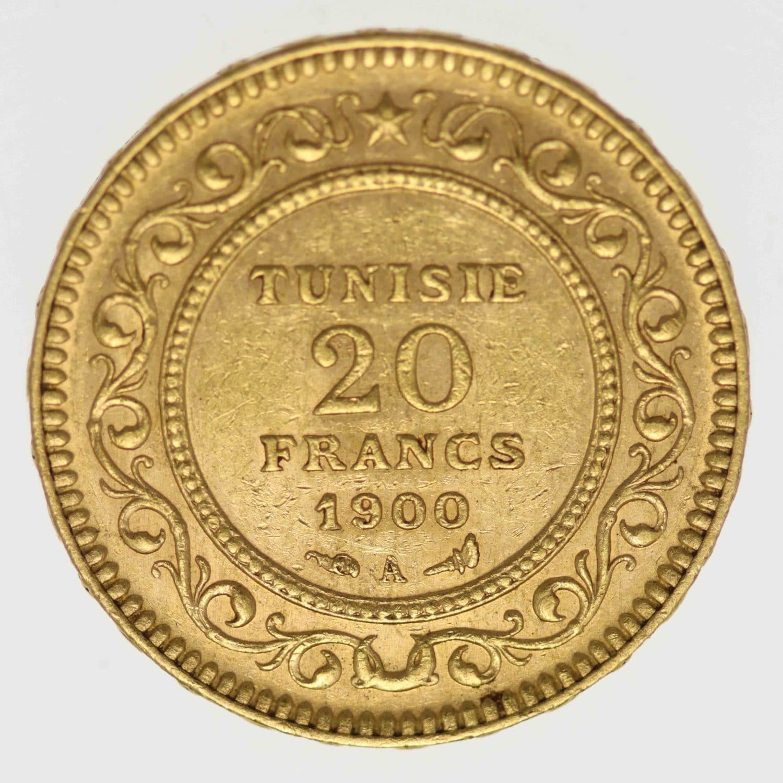 tunesien - Tunesien Ali Bey 20 Francs 1900