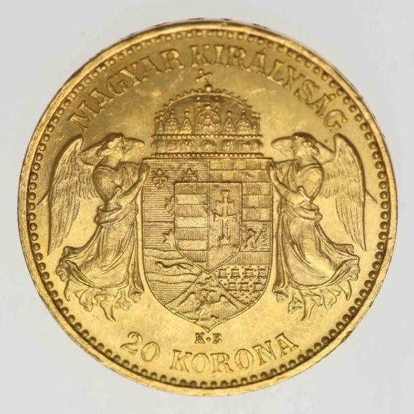 ungarn - Ungarn Franz Joseph I. 20 Kronen 1895 NP