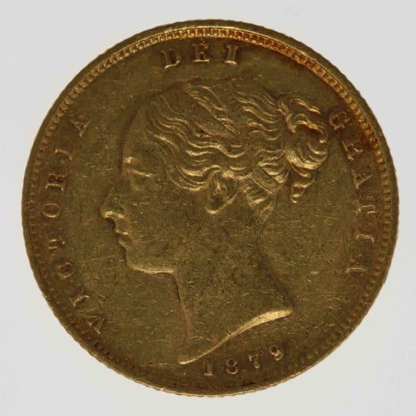 grossbritannien - Großbritannien Victoria Half Sovereign 1879