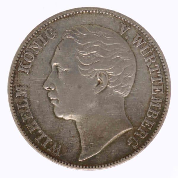 altdeutschland-deutsche-silbermuenzen - Württemberg Wilhelm Vereinstaler 1857
