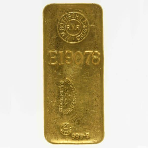 goldbarren - Goldbarren 1000 Gramm Großbritannien N.M. Rothschild & Sons Limited