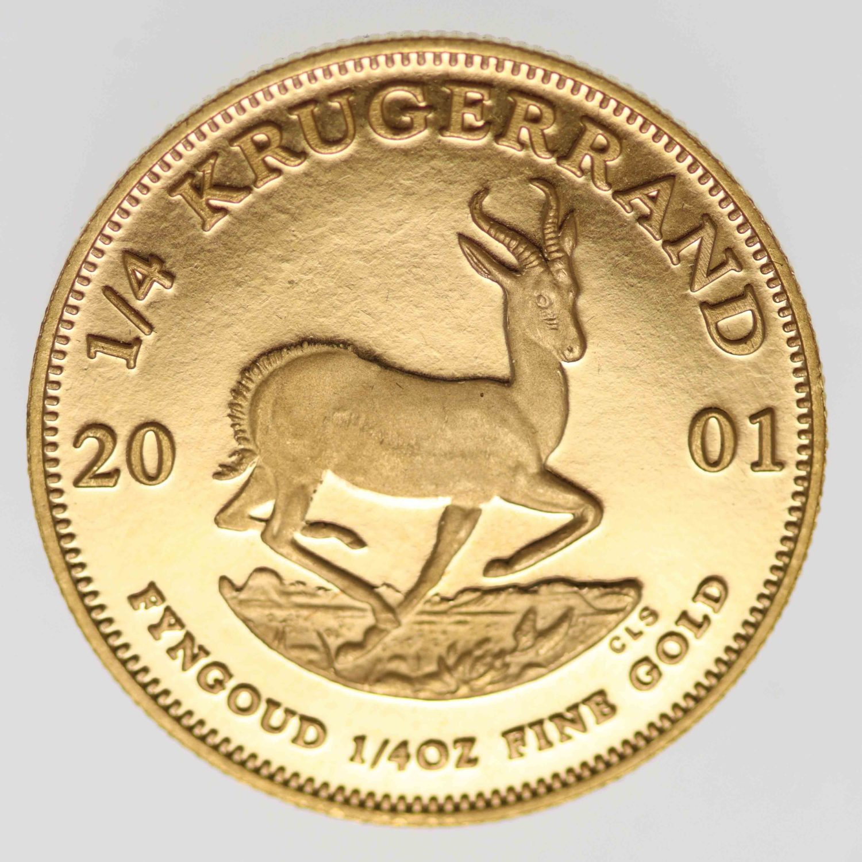 suedafrika - Südafrika Krügerrand 1/4 Unze 2001