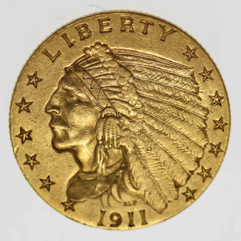 usa - USA 2,5 Dollars 1911 Indianer