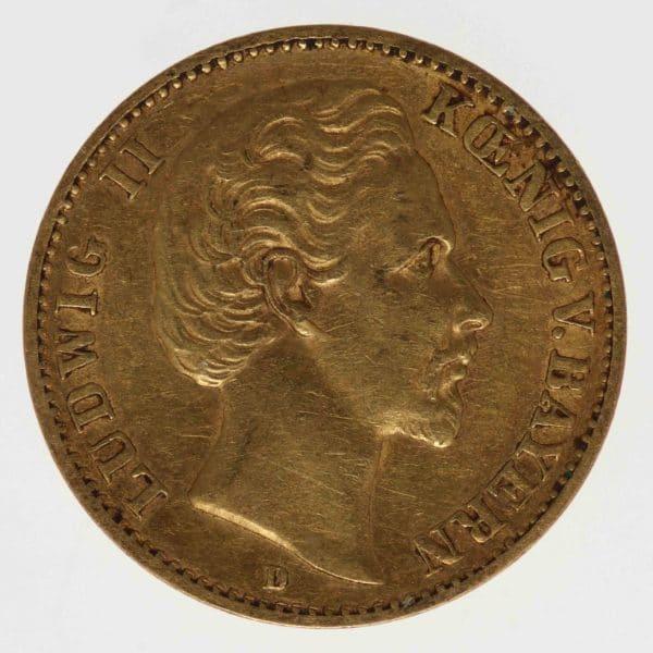 deutsches-kaiserreich-ab-1871 - Bayern Ludwig II. 10 Mark 1876