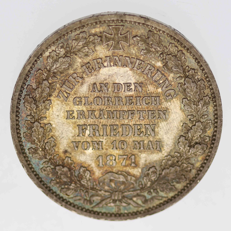 altdeutschland-deutsche-silbermuenzen - Bremen Taler 1871