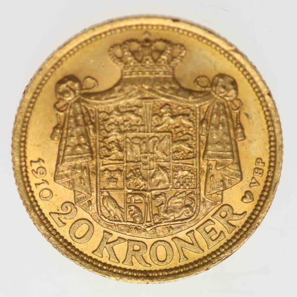 daenemark - Dänemark Frederik VIII. 20 Kronen 1910