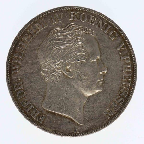 altdeutschland-deutsche-silbermuenzen - Preussen Friedrich Wilhelm IV. Doppeltaler 1842