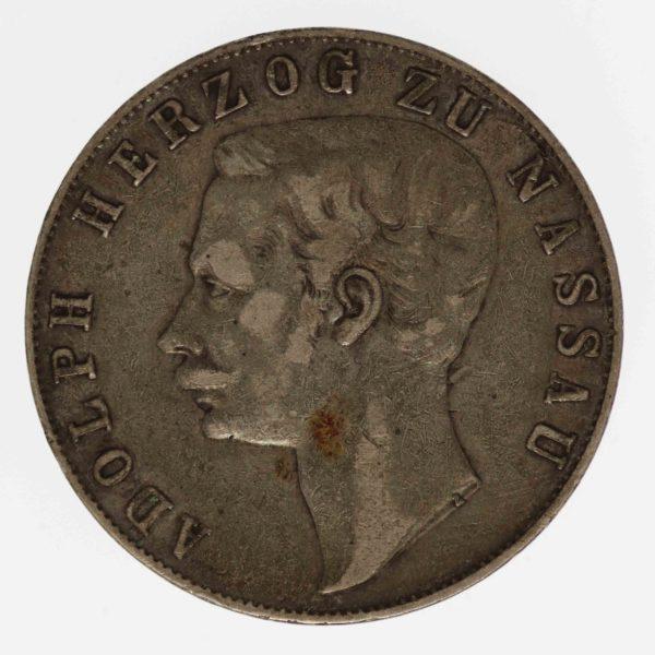 altdeutschland-deutsche-silbermuenzen - Nassau Adolph Taler 1860
