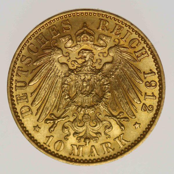 deutsches-kaiserreich-ab-1871 - Preussen Wilhelm II. 10 Mark 1912 A