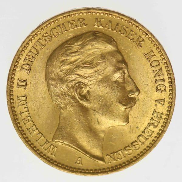 deutsches-kaiserreich-ab-1871 - Preussen Wilhelm II.20 Mark1905 A