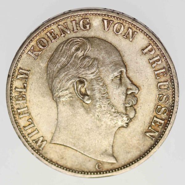 altdeutschland-deutsche-silbermuenzen - Preussen Wilhelm I. Vereinsdoppeltaler 1867