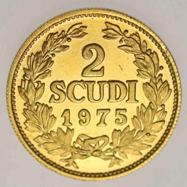 san-marino - San Marino 2 Scudi 1975