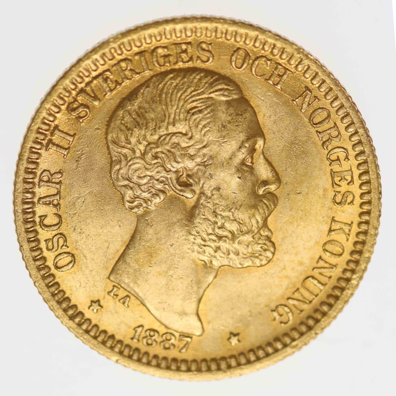 schweden - Schweden Oskar II. 20 Kronen 1887