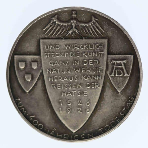 weimarer-republik-deutsche-silbermuenzen - Weimarer Republik Silbermedaille 1928