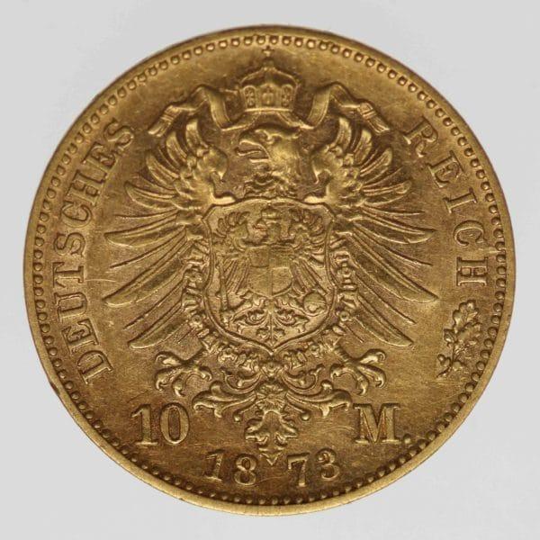 deutsches-kaiserreich-ab-1871 - Württemberg Karl 10 Mark 1873