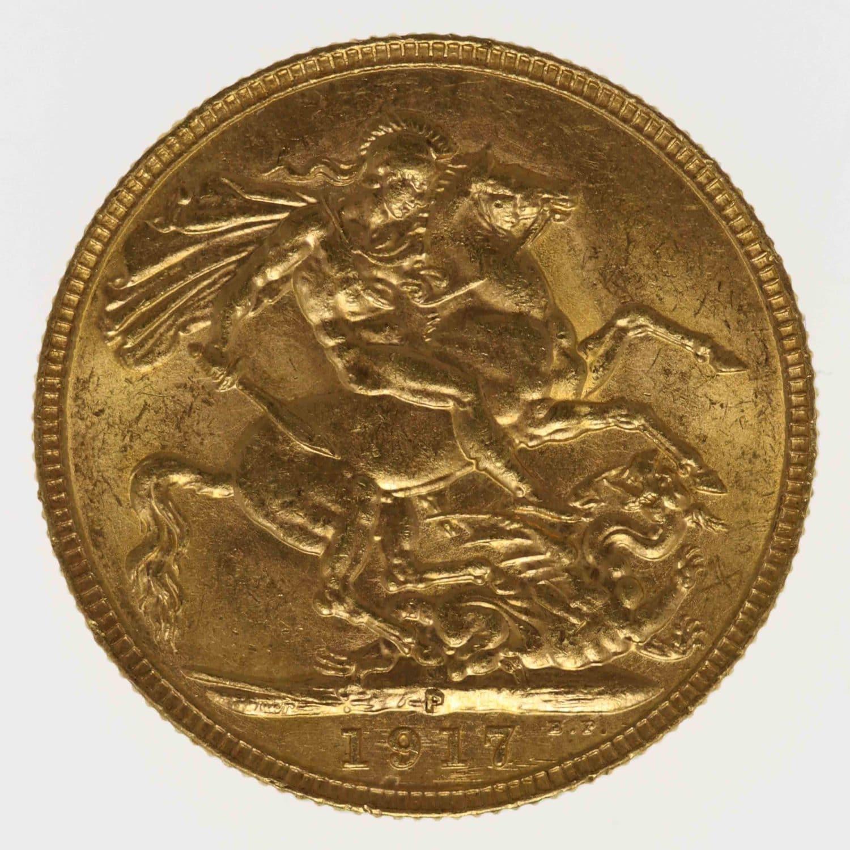 australien - Australien Georg V. Sovereign 1917 P
