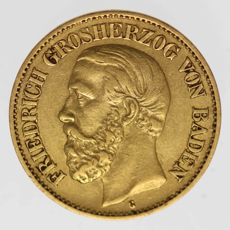 deutsches-kaiserreich-ab-1871 - Baden Friedrich I. 10 Mark 1876