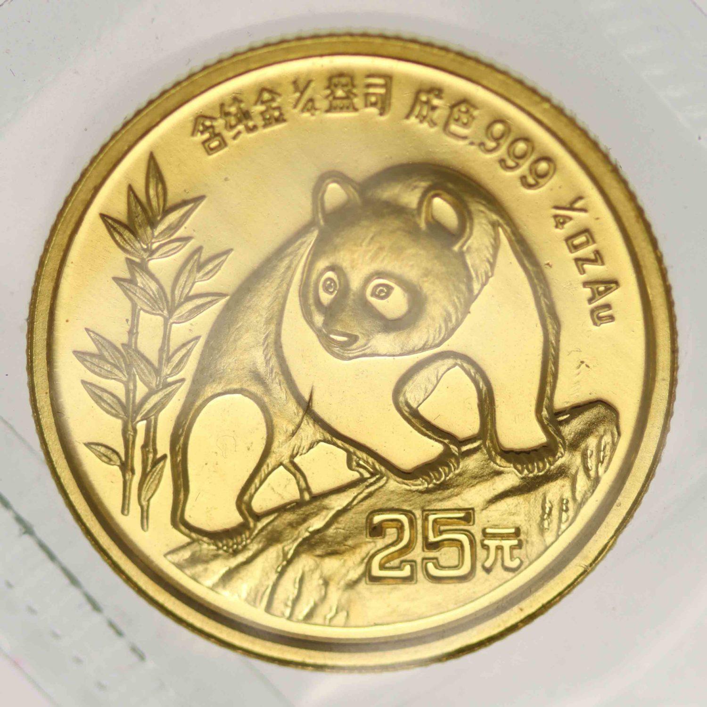 china - China Panda 1/4 Unze 1990