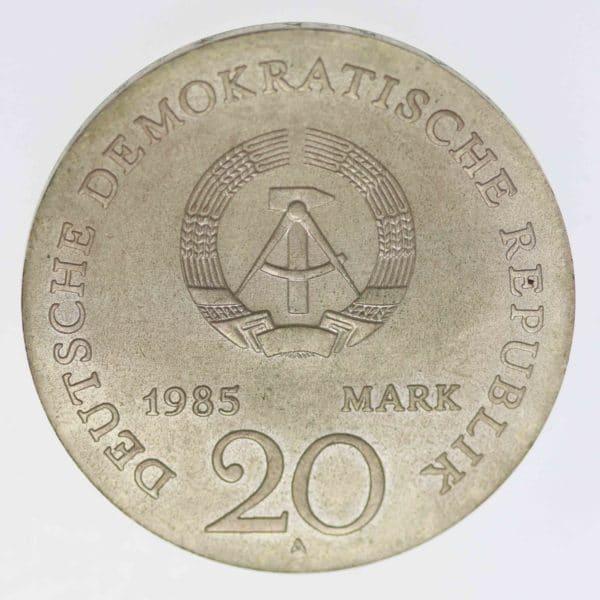 ddr-deutsche-silbermuenzen - DDR 20 Mark 1985 Arndt