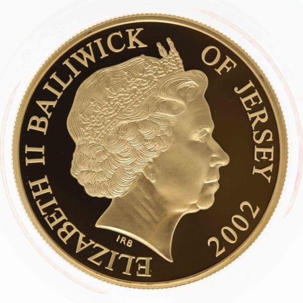 grossbritannien - Jersey Elisabeth II. 5 Pounds 2002 Piedfort