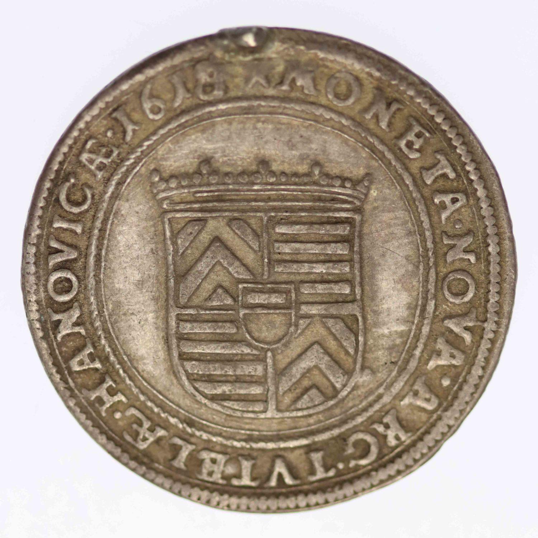 altdeutschland-deutsche-silbermuenzen - Hanau Münzenberg Philipp Moritz Teston 1618