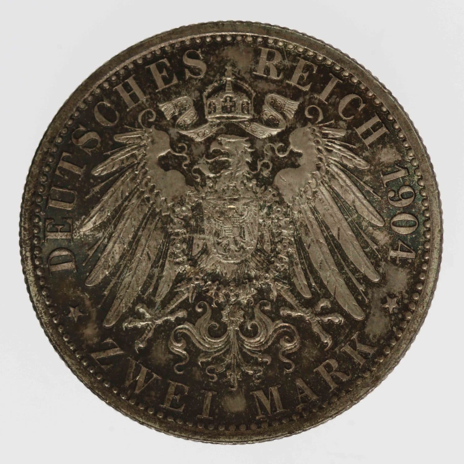 deutsches-kaiserreich-ab-1871-deutsche-silbermuenzen - Hessen Ernst Ludwig 2 Mark 1904