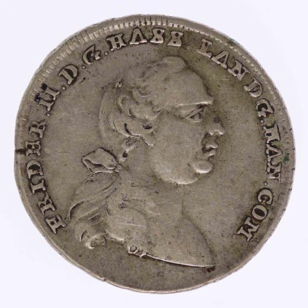 altdeutschland-deutsche-silbermuenzen - Hessen Kassel Friedrich II. 1/3 Taler 1767
