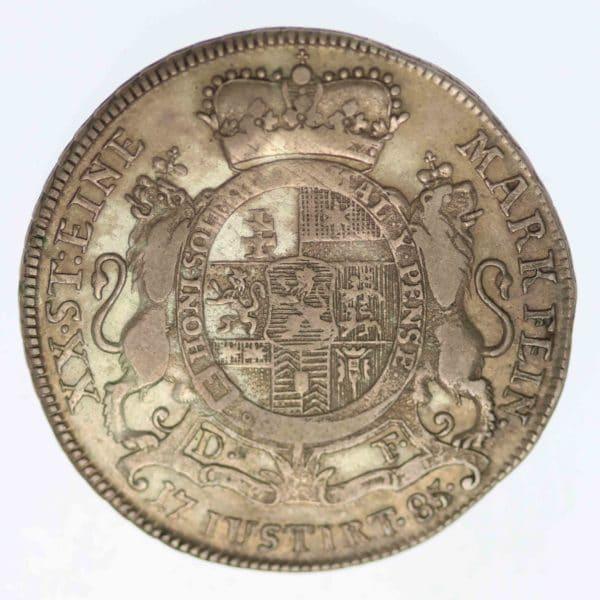 altdeutschland-deutsche-silbermuenzen - Hessen Kassel Friedrich II. 2/3 Taler 1785