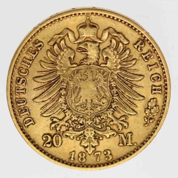 deutsches-kaiserreich-ab-1871 - Hessen Ludwig III.20 Mark 1873