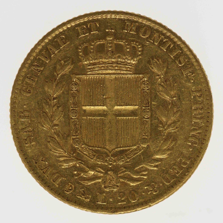 italien - Italien Sardinien Karl Albert 20 Lire 1849