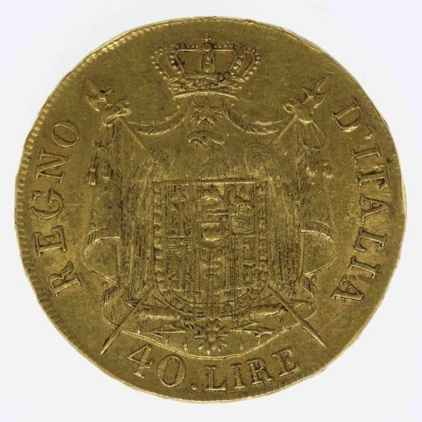 italien - Italien Napoleon I. 40 Lire 1808 M