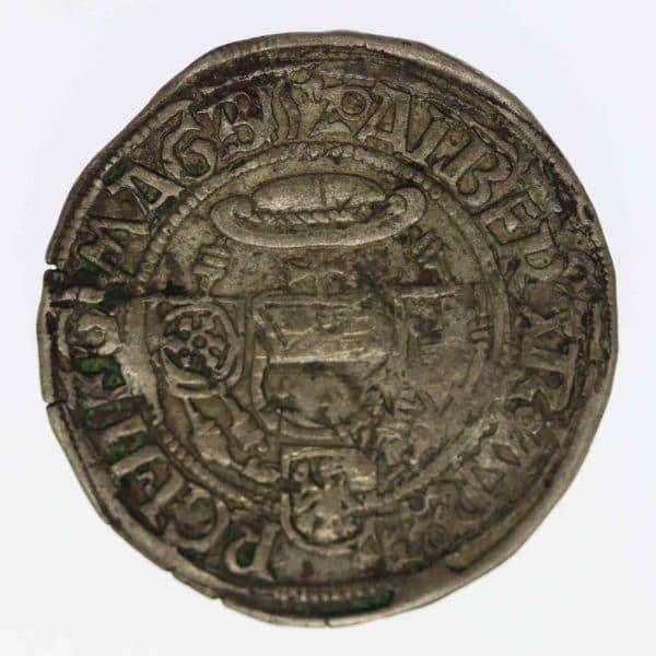 altdeutschland-deutsche-silbermuenzen - Magdeburg Albrecht IV. von Brandenburg Groschen 1520